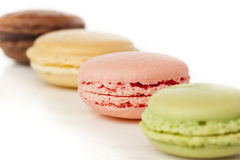 Gourmet Colored Macaroon Cookies Royalty Free Stock Images