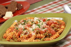 Gourmet colorful pasta Royalty Free Stock Images