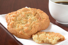 Gourmet cookies and coffee Royalty Free Stock Photography