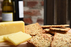 Gourmet crackers and cheese Stock Images