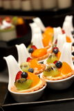 Gourmet cream Fruit Tart with berries Stock Photos