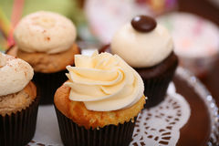 Gourmet cupcakes Stock Photos