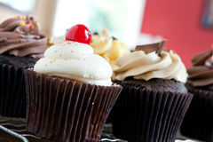 Gourmet Cupcakes Closeup Stock Photo