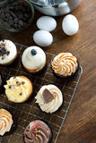 Gourmet Cupcakes and Ingredients Stock Images
