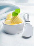 Gourmet curled rolled butter Royalty Free Stock Photo