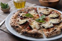 Gourmet découpé en tranches de pizza image libre de droits