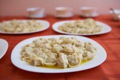 Gourmet de Sibérien de Pelmeni Photos stock