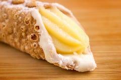 Gourmet delicious vanilla cannoli Royalty Free Stock Photo