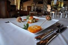 Gourmet design food. Sarde a beccafico Royalty Free Stock Photo