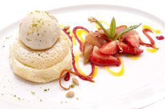 Gourmet dessert. S on a plate isolated Stock Photo
