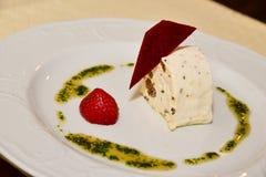 Gourmet dessert panacota Stock Image