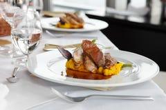Gourmet dinner Stock Photography