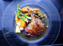 Gourmet duck dish, confit de canard. Stock Photography