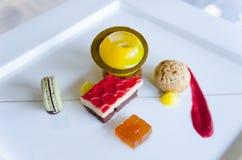 Gourmet- efterrätt Royaltyfri Fotografi