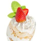 Gourmet- efterrätt med jordgubben Arkivbilder