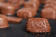 Gourmet Fancy Chocolate Stock Photography