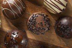 Gourmet Fancy Dark Chocolate Truffle Candy Stock Photo