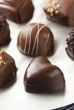 Gourmet Fancy Dark Chocolate Truffle Candy. For Dessert Royalty Free Stock Image