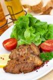 Gourmet - fette di maiale di lattante - arrostito fotografia stock libera da diritti