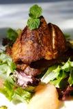 Gourmet fish and citrus salad stock image