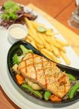Gourmet fish steak Royalty Free Stock Image