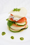 Gourmet food. With fish and lasagne sheet Stock Images