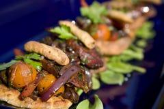 Gourmet Food. Gourmet vegetable pastries in a deli Stock Image