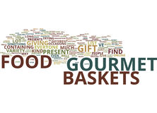 Gourmet Food Baskets Text Background  Word Cloud Concept Stock Image