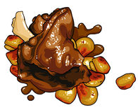 Gourmet Food meat dish Royalty Free Stock Image