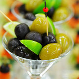 Gourmet food - olives Royalty Free Stock Photos