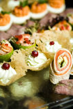 Gourmet food for parties Royalty Free Stock Images