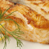 Gourmet Food. Salmon Fish Steak Stock Photography