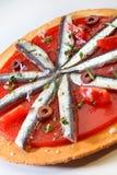 Gourmet food sardine stock photos