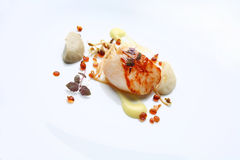 Gourmet food scallop Stock Photography