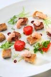 Gourmet food shrimp stock photography