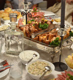 Gourmet food, table,cold cuts Stock Photos