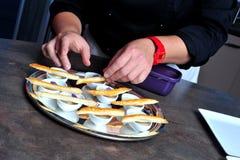 Gourmet- fransk matställe Royaltyfri Foto