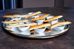 Gourmet- fransk matställe Arkivfoto