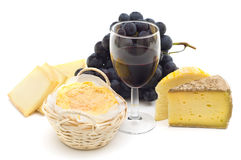 Gourmet french cheeses royalty free stock photos