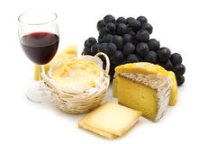 Gourmet french cheeses Royalty Free Stock Images