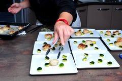 Gourmet French Dinner Stock Photos