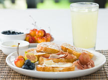 Gourmet French Toast Royalty Free Stock Photography