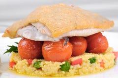 Gourmet fried fish Stock Photos