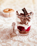 Gourmet fruit and chocolate parfait Royalty Free Stock Photography