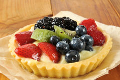 Gourmet fruit tart Stock Photos
