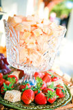 Gourmet Fruits and Cheese Treats Royalty Free Stock Photo