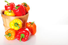 Gourmet garden pepper basket with copyspace Stock Photo