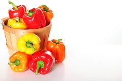 Gourmet Garden Pepper Basket With Copyspace Stock Photo