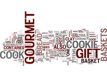 Gourmet Gift Baskets Text Background  Word Cloud Concept Stock Image