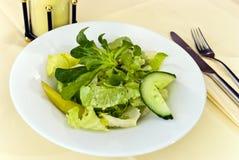 Gourmet greco salad.close in su Fotografia Stock Libera da Diritti